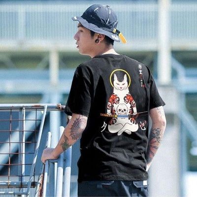 tee shirt chat japonais