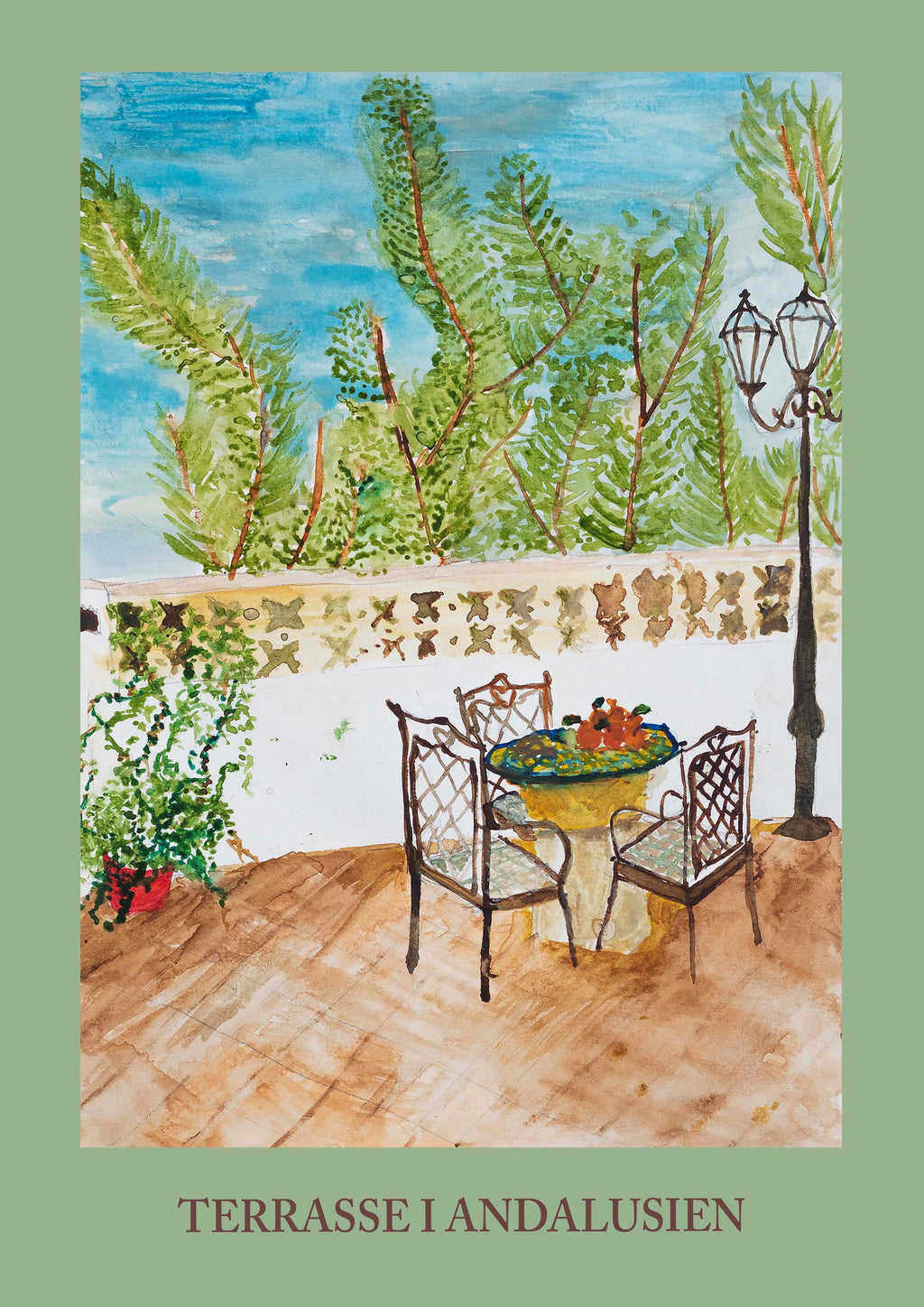 Terrasse i Andalusien - Laura Tams B. Plakater