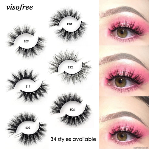 3 pair Mink Lashes 3D Mink Eyelashes 100% Cruelty free Lashes Handmade Reusable Natural Eyelashes Popular False Lashes Makeup - Hair She Come