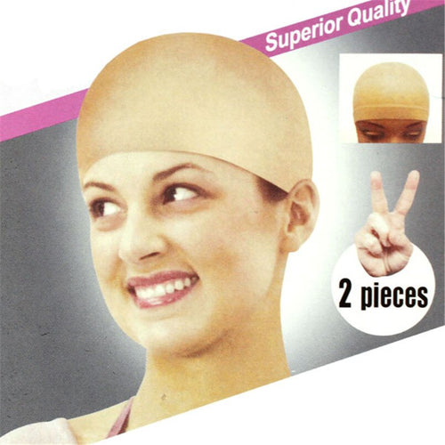 Nylon Bald Wig Hair Cap Stocking Liner Snood Mesh Stretch Nude Beige massage - Hair She Come