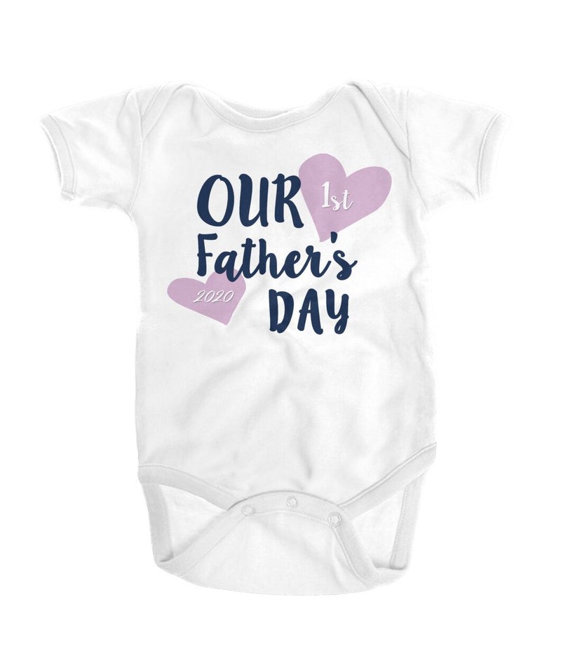"""Fathers Day"" Baby GIRLS Bodysuit"