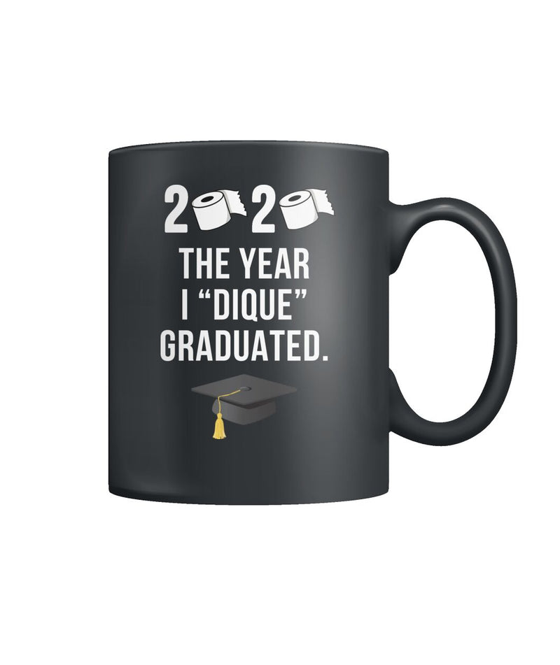 "2020 ""Quarantine"" Graduation Mug Black"