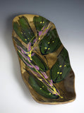 Tropical Leaf Tray by Audra Ladd