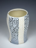Black & White Striped Cup by Christine Roth