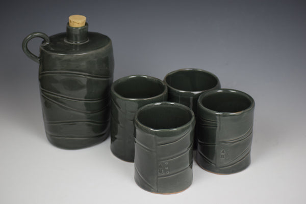 Flask Set by Ameenah Henderson