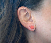 Coral Flower Earrings by Melodie Grace