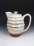 Shino Carved Tea Pitcher by Brooke Gillon