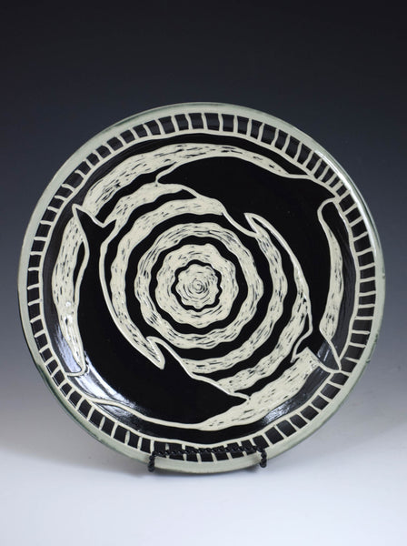 Dolphin Duo Plate by Jackie Schlicher