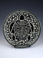 "Turtle Plate ""Aura"" by Jackie Schlicher"
