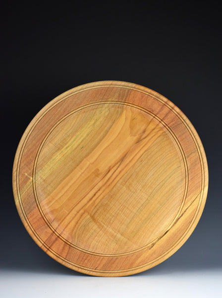 Figured Maple Platter by Jeff Brockett
