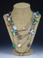 Pearly Pastel Necklace by Tammy Gentuso