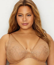 Load image into Gallery viewer, Curvy Couture Innovation Glistening Sheer Plunge Bra E til H skálar