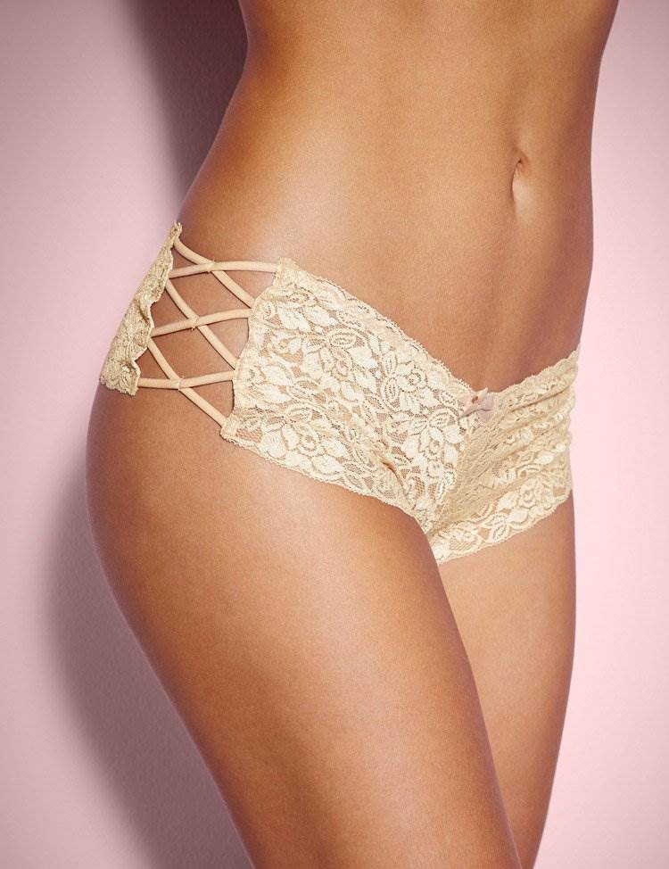 High Waist Floral Lace Strappy Panty
