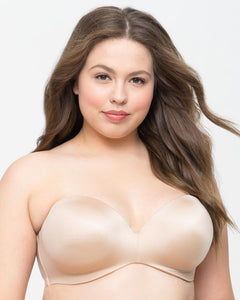 Curvy Couture Smooth Strapless Multi-Way Uplift Bra