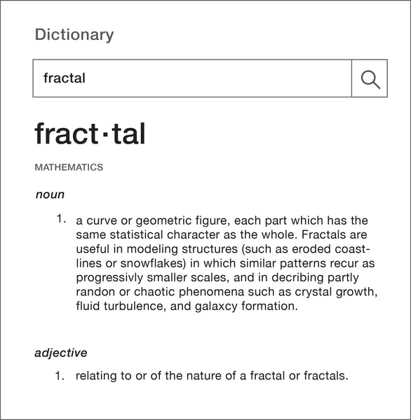 fractal dictionary definition