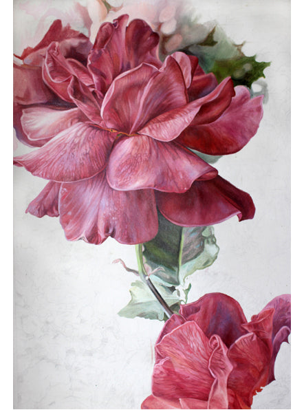 Ovation Red Roses oil painting by Leslie Montana