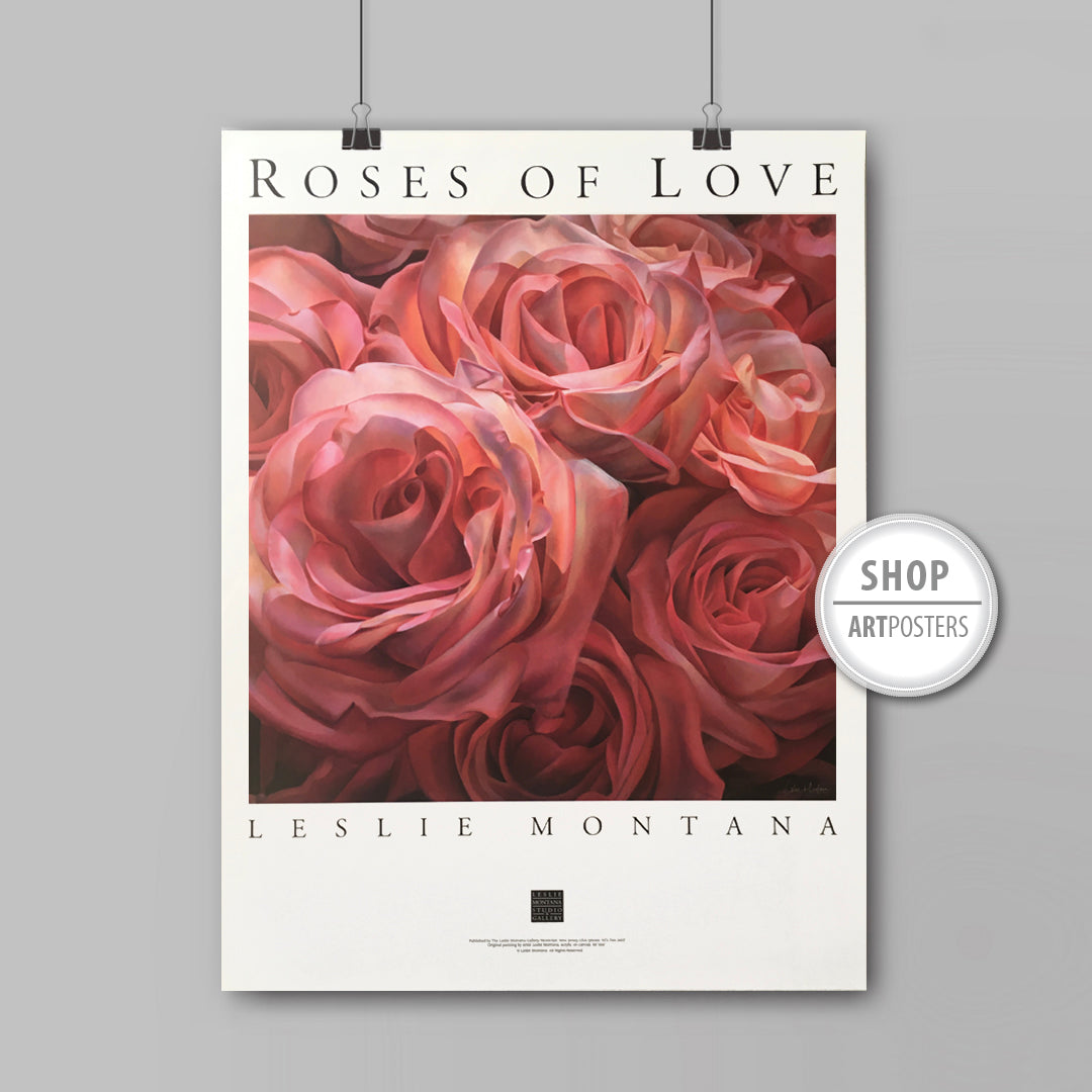 Roses of Love art poster by Leslie Montana