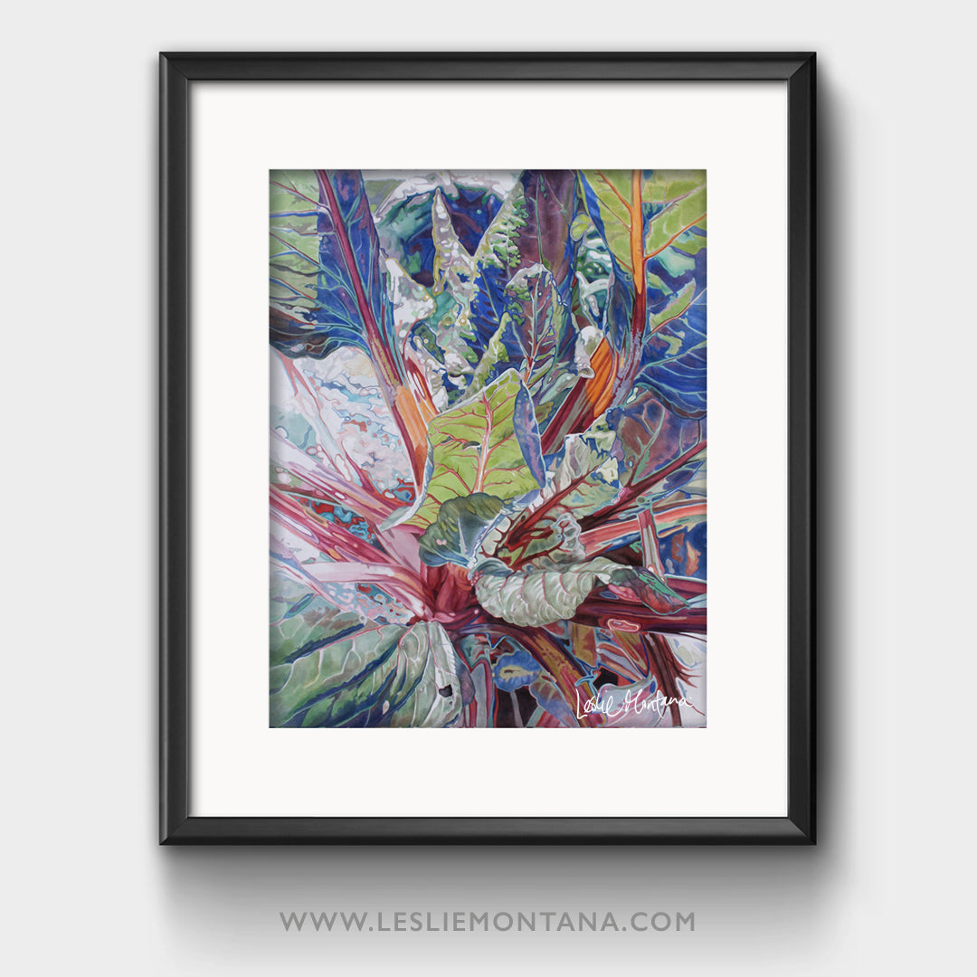 Ruby Chard Two, Special Edition Giclee Print