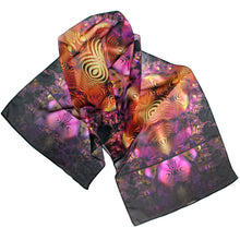 Load image into Gallery viewer, BLING FLING Chiffon Scarf in Purple, Gold & Black - Leslie Montana