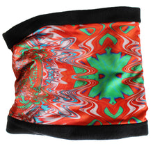 Load image into Gallery viewer, INDIAN BLANKET Cowl, Neck Warmer in Orange & Green - Leslie Montana