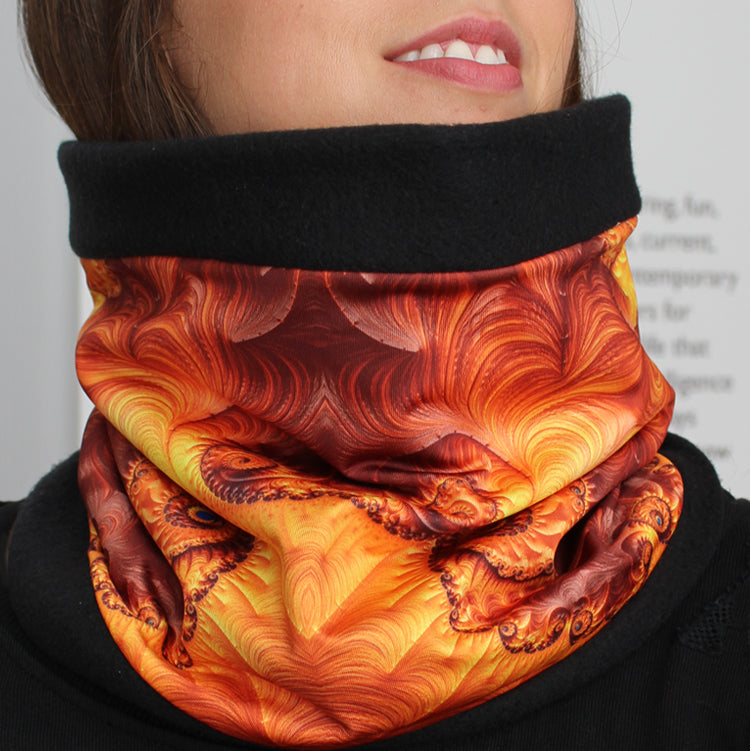 MARIPOSA Cowl, Neck Warmer in Gold & Brown - Leslie Montana