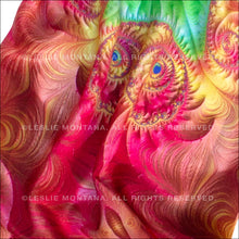 Load image into Gallery viewer, MARIPOSA in Bright Pink & Grass Green Silk Scarf - Leslie Montana