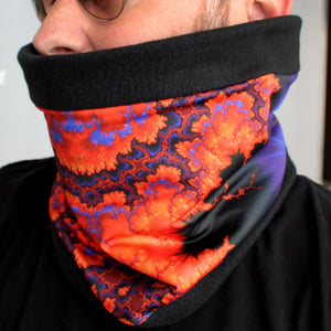 ON WINGS Cowl, Neck Warmer in Orange & Purple - Leslie Montana