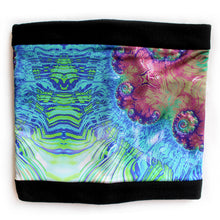 Load image into Gallery viewer, Terrestrial Cowl, Neck Warmer in Lavender, Blue & Green - Leslie Montana