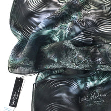 Load image into Gallery viewer, WAY OPTICAL Chiffon Scarf in Gray Iridescence - Leslie Montana