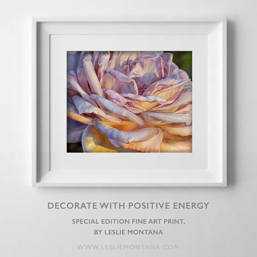 OCEAN OF LOVE, SUNSET ROSE, Special Edition Archival Print, Frame Ready - Leslie Montana