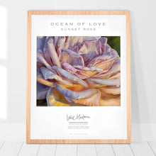 Load image into Gallery viewer, OCEAN OF LOVE, SUNSET ROSE | Poster of the Original Oil Painting by Leslie Montana - Leslie Montana