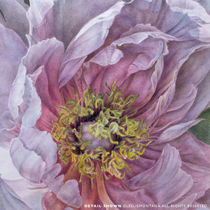 PEONY WINGS, Giclee Print of the Original Watercolor Painting - Leslie Montana