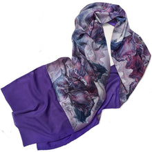 Load image into Gallery viewer, PURPLE IRIS | Lightweight Shawl | Watercolor Series - Leslie Montana