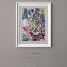Load image into Gallery viewer, RUBY CHARD TWO, Giclee Print of the Original Watercolor Painting - Leslie Montana