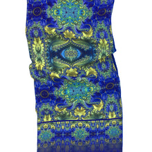Load image into Gallery viewer, BAROQUE Lightweight Shawl in Royal Blue, Yellow & Turquoise - Leslie Montana