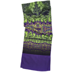 BAROQUE Lightweight Shawl in Lime, Purple & Magenta - Leslie Montana