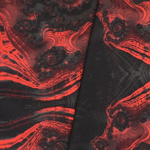 Load image into Gallery viewer, FLAMENCO Lightweight Shawl in Red and Black - Leslie Montana