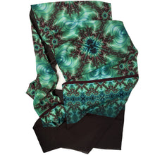 Load image into Gallery viewer, INNER LANDSCAPE Lightweight Shawl in Sea Greens & Brown - Leslie Montana