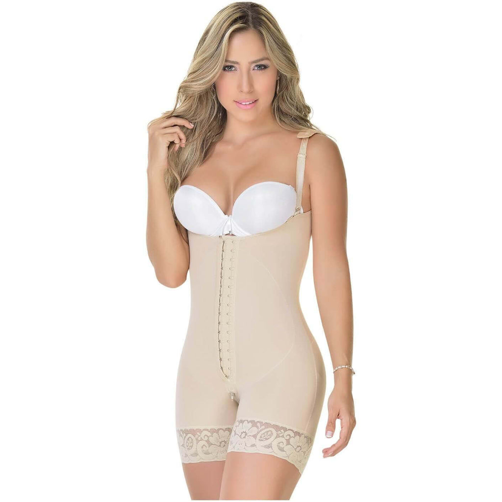 Fajas MyD Colombian Faja, Mid Thigh Compression Girdle, Daily Use, Postsurgery
