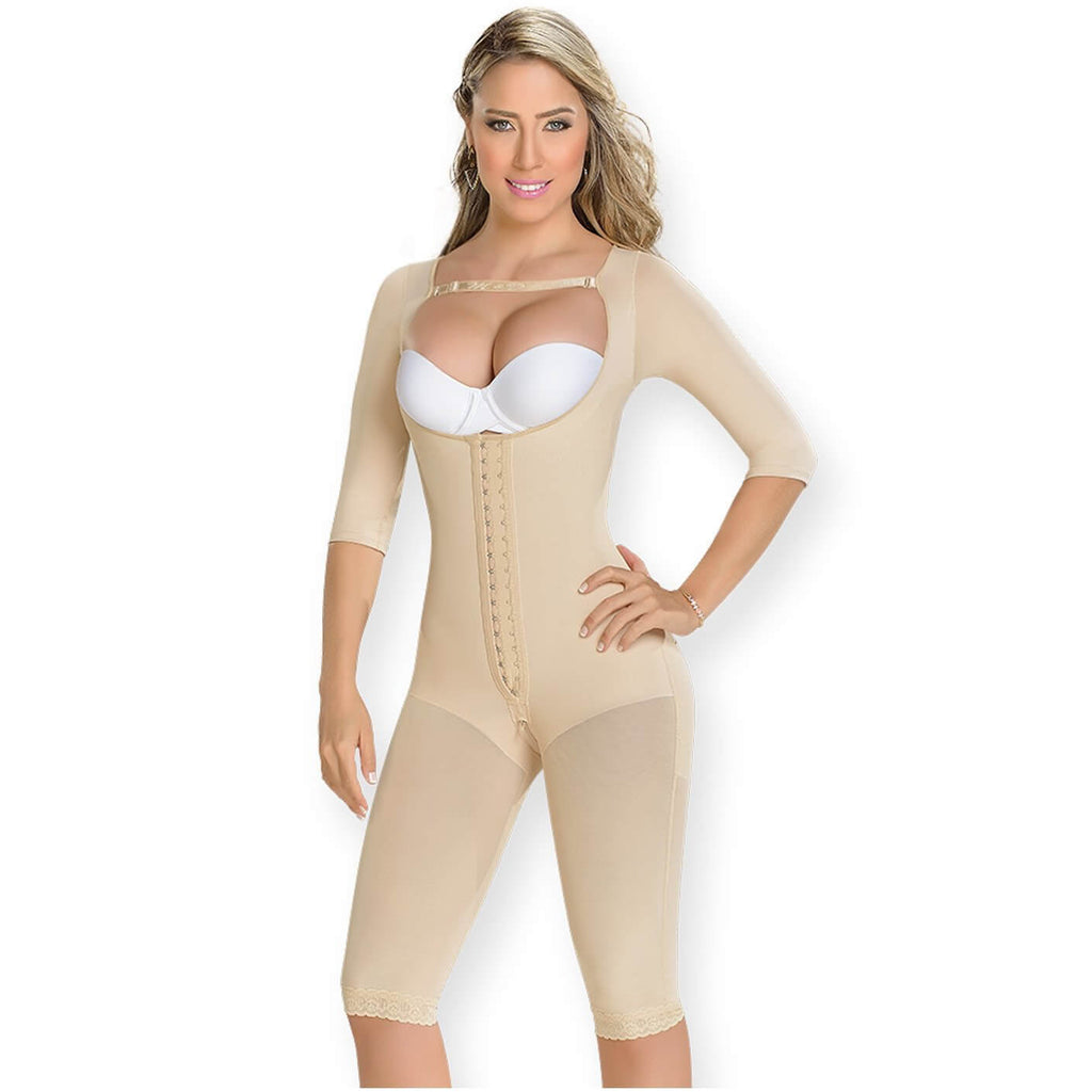 Fajas MyD Colombian Faja, Sleeved Knee-length Girdle, Postsurgery.1