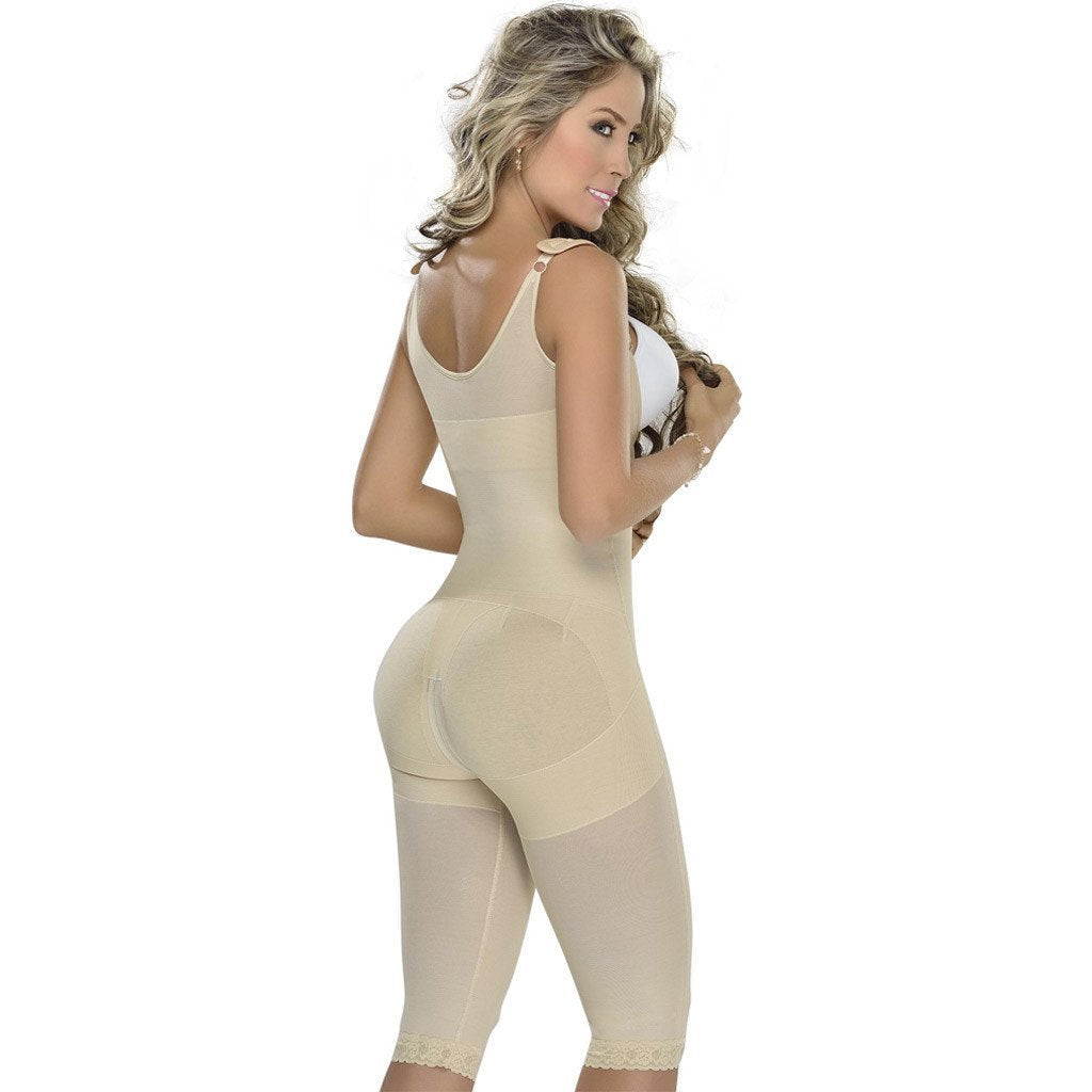 MyD Colombian Faja | Tummy Control Postpartum | Post Surgery | Knee-length