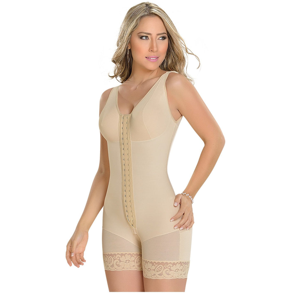 MyD Colombian Faja with Bra and Wide Straps, Post-Surgical, Lipo and Tummy Tuck Compression 1