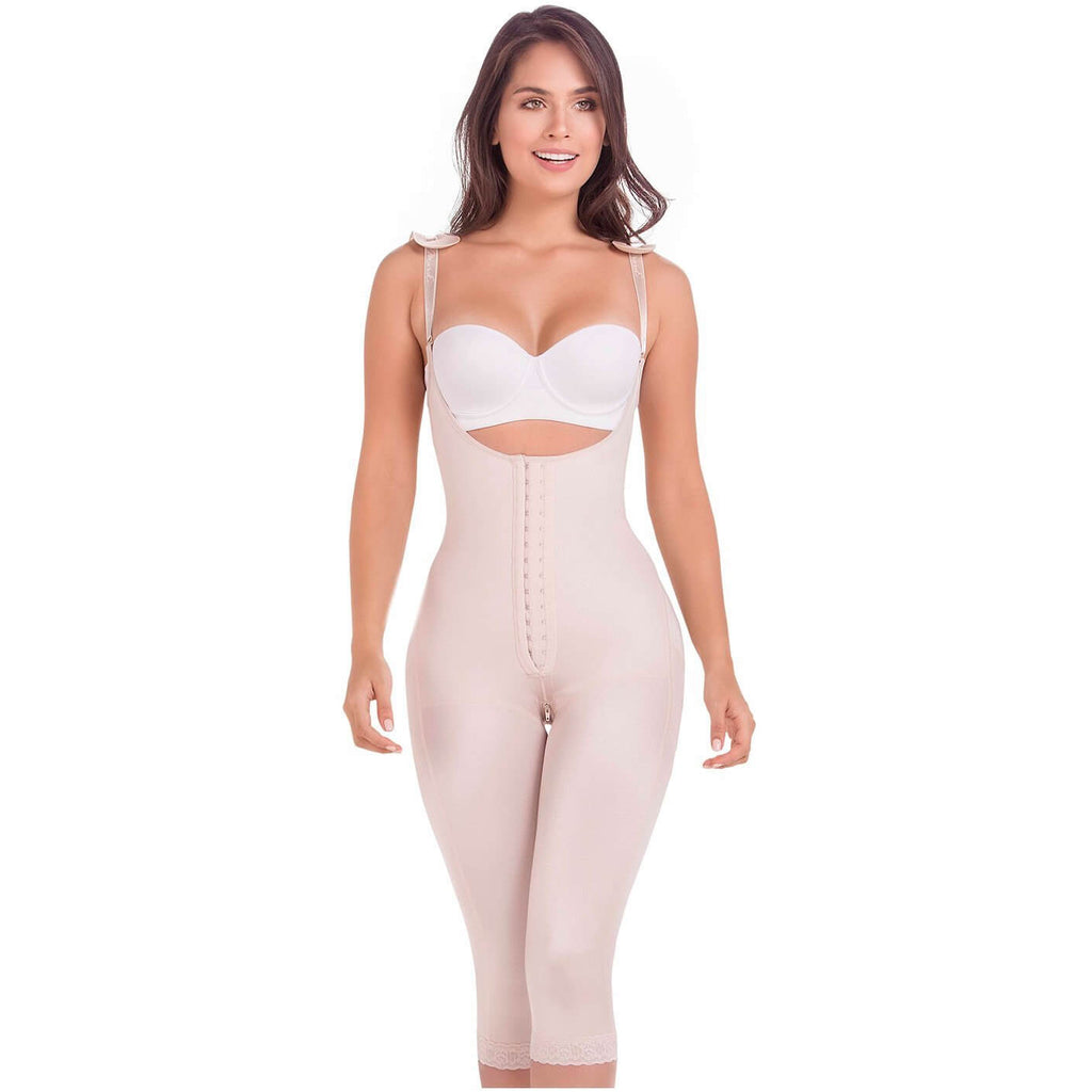 MariaE Colombian Faja, Surgical Lipo Compression Garment, Capri Body Shaper