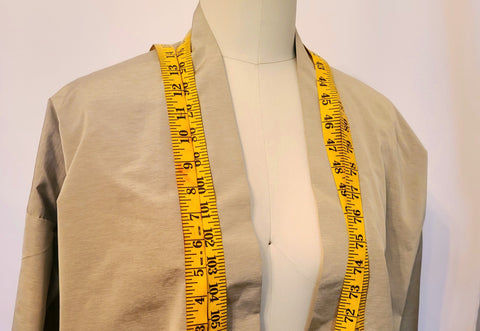 Measuring tape on mannequin for cosplay measurement chart