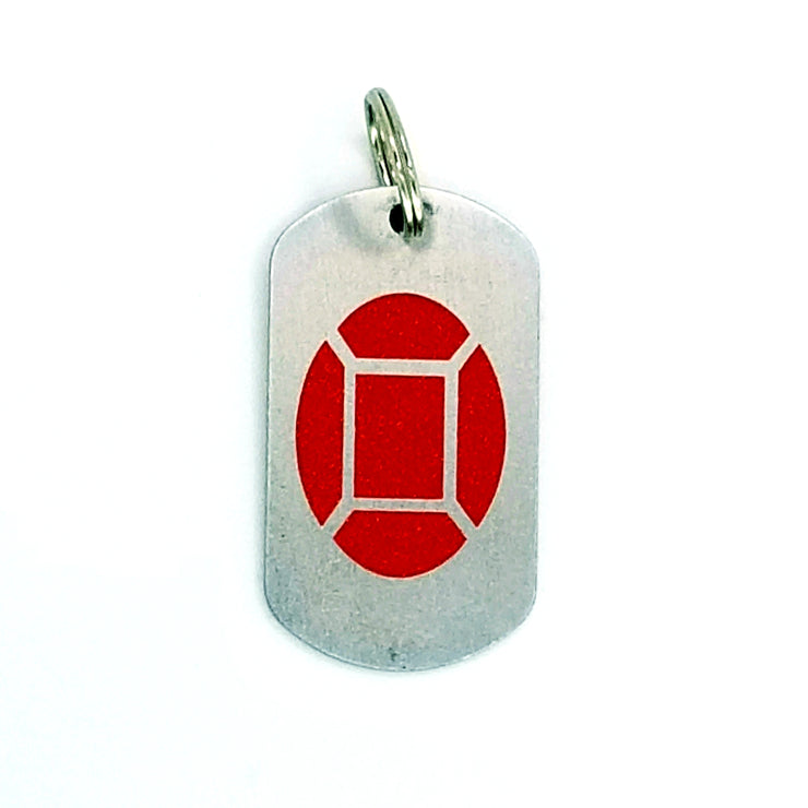 Steven Universe Ruby Dog Tag
