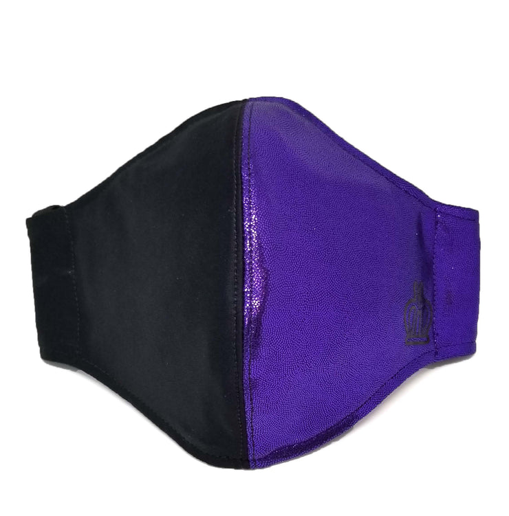 Face Mask: Black/Purple