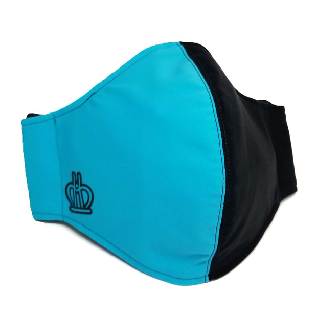 Face Mask: Black/Aqua