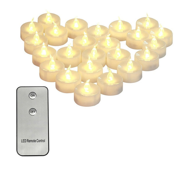 Remote Control Electric Candle 2pc
