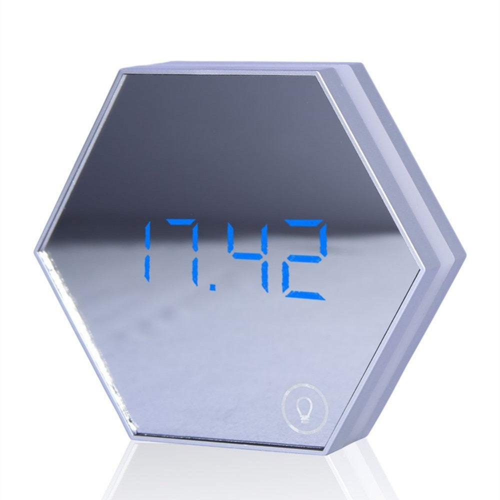 Hexagon Mirror Clock