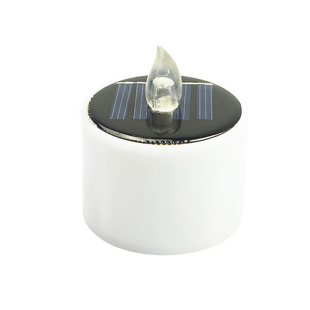 White Electronic Solar Candle